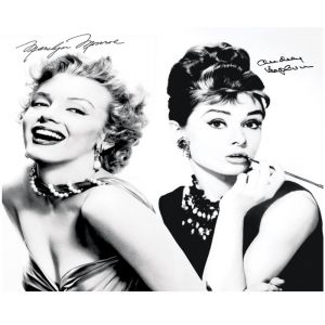 Vintage Audrey And Marilyn Custom Made Picture Frame