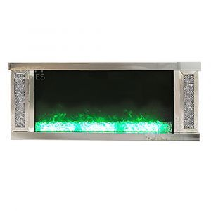 Crushed Crystal Flame Effect Wall Mount (Milano) - Pre Order
