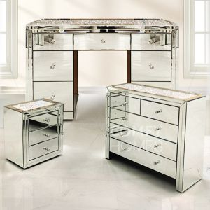 Crushed Crystal Top Dressing Table Sets (Milano)