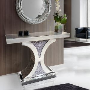 Crushed Crystal Hourglass Console Table (Milano) Alternative
