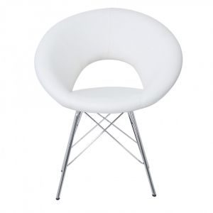 Orla White Faux Leather Chair