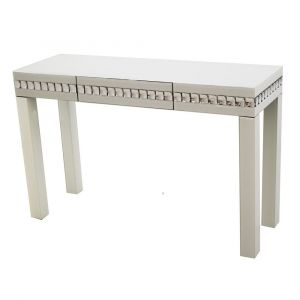 White Diamond Mirrored Dressing/Console Table
