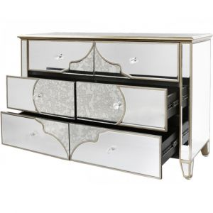 Mirrored Masira 6 Drawer Chest Alternative