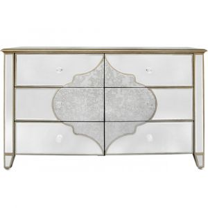 Mirrored Masira 6 Drawer Chest