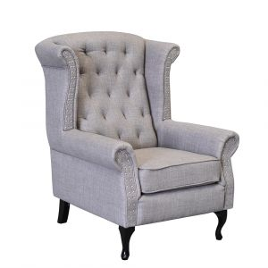 Studded Wingback Chair